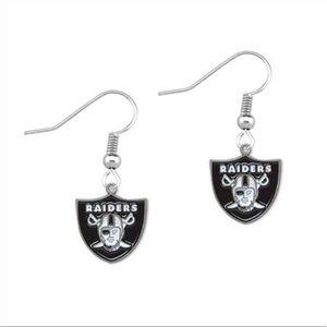Jewelry - Brand New Oakland Raiders Custom Earrings